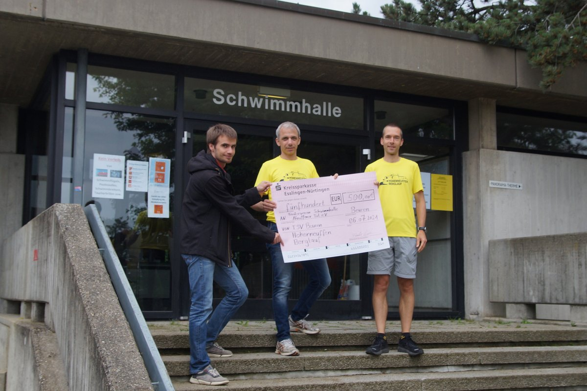 Spendenerlös aus Hohenneuffen-Berglauf
